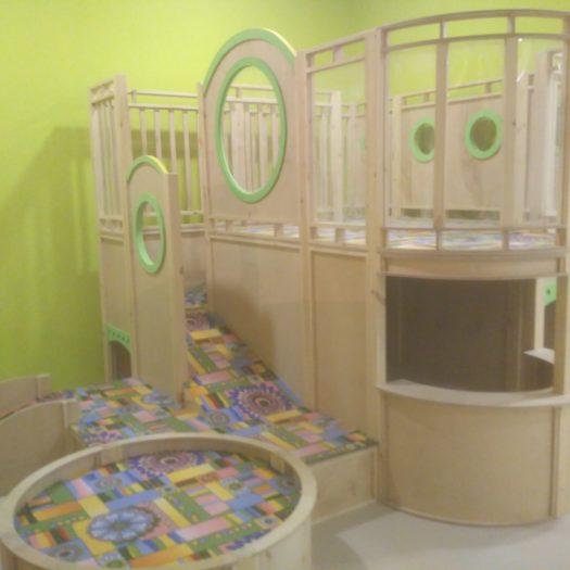 Монтаж детского игрового лабиринта в ТРЦ во Львове