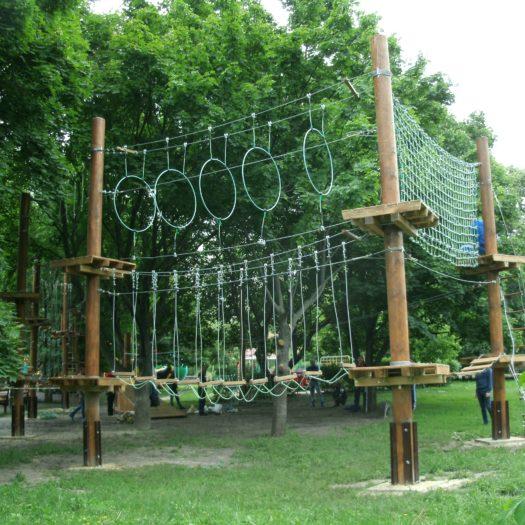 Строительство веревочного парке в Кременчуге