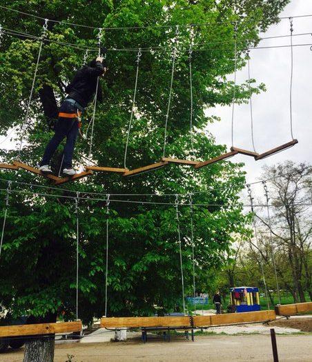 Установка веревочного парка в Никополе