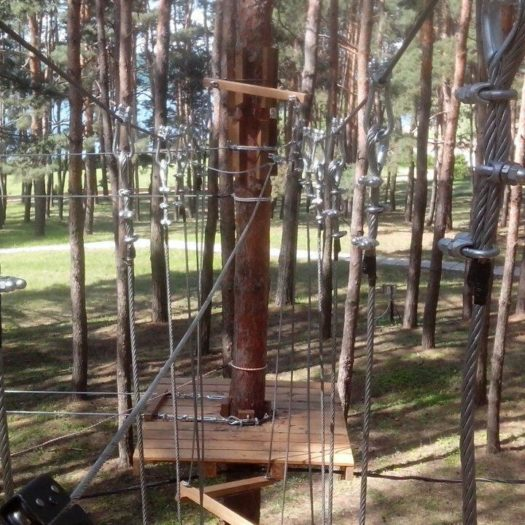 Строительство веревочного парка по частному проекту в Печенегах (Харьковская область)
