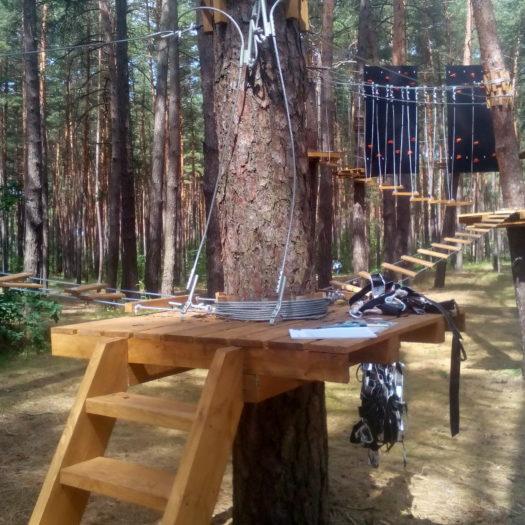 Строительство веревочного парка Verholy Relax Park в Полтаве