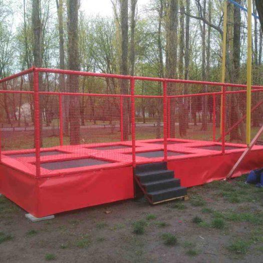 Установка батутной арены в г. Одесса, 412 батарея