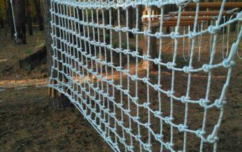 Строительство веревочного парка для малышей в частном детском саду (детская лазалка), г. Харьков