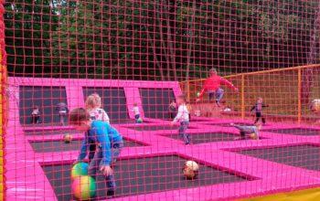 Строительство детской батутной арены во Львове 2019