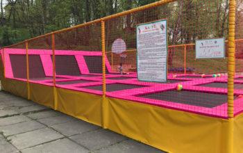 Монтаж батутного оборудования во Львове