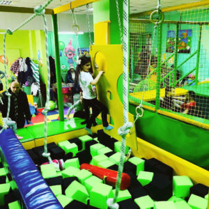 Ниндзя-парк в развлекательном детском центре Славянска