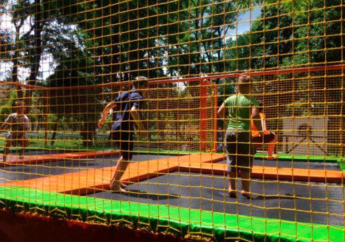 Строительство батута и игрового лабиринта в Кировоградской области