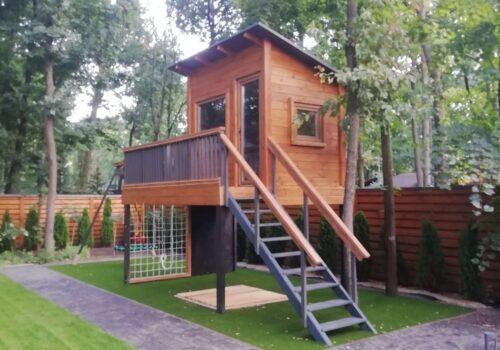 Строительство домика на дереве в пос. Лесное Харьковской области