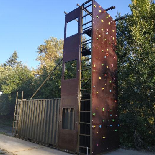 Строительство мобильного скалодрома в Львовской области